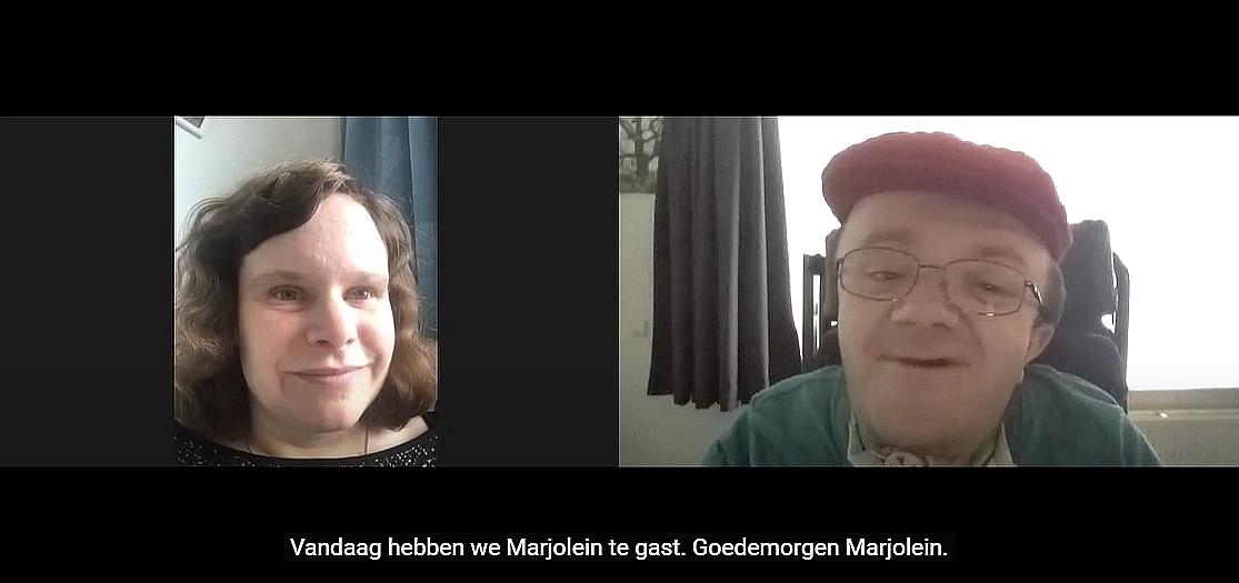 filmbeeld van Marjolein en Tim